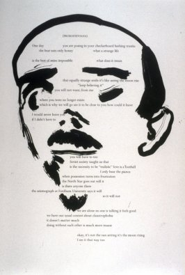 Fifteenth plate in the portfolio Biotherm (for Bill Berkson) by Frank O'Hara (San Francisco: Arion Press, 1990)
