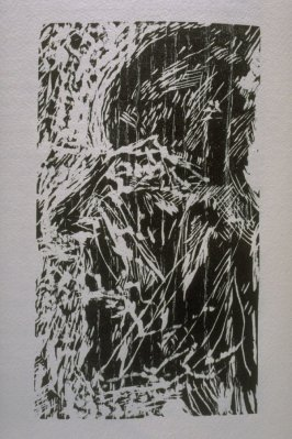 """""""And I Saw,"""" illustration in the book The Apocalypse/The Revelation of Saint John The Divine/The Last Book of the New Testament from the King James Version of the Bible, 1611, with Twenty-nine Prints from Woodblocks Cut by Jim Dine. (San Francisco: The Ar"""