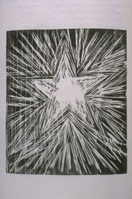 """The Morning Star,"" illustration in the book The Apocalypse/The Revelation of Saint John The Divine/The Last Book of the New Testament from the King James Version of the Bible, 1611, with Twenty-nine Prints from Woodblocks Cut by Jim Dine. (San Francisco:"