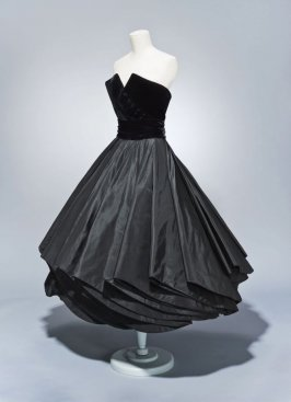 "Cocktail dress with cummerbund and petticoat, ""Girouette"""