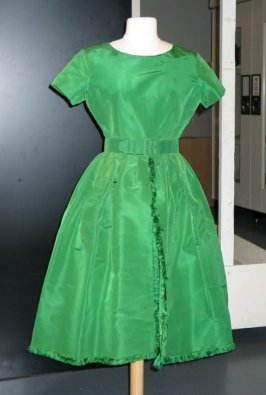 Evening dress with belt