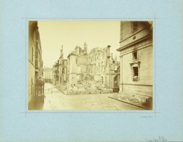 Rue de Lille from a series showing the destruction of Paris during the Commune