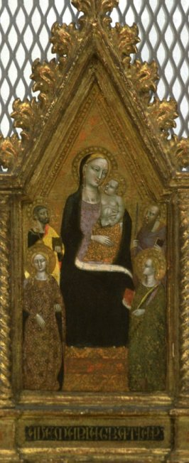 Madonna and Child Enthroned by Saints