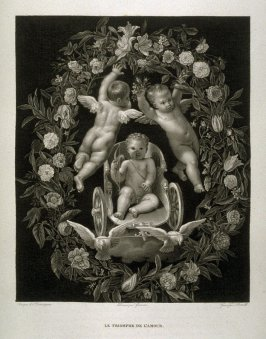 "Le Triomphe de L""amour...( The triumph of love )...twelfth plate in the book... Le Musée royal (Paris: P. Didot, l'ainé, 1818), vol. 2"