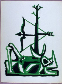 Frontispiece, in the book Poésie et verité 1942 by Paul Eluard (Paris: Roger Lacourière, 1947)