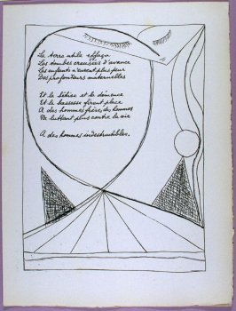 Second page of the poem Un feu sans tache in the book Poésie et verité 1942 by Paul Eluard (Paris: Roger Lacourière, 1947)