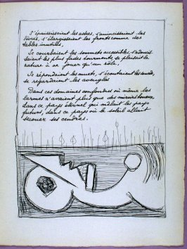 Second page of the poem Dimanche après-midi in the book Poésie et verité 1942 by Paul Eluard (Paris: Roger Lacourière, 1947)