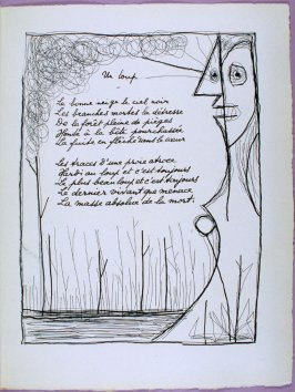 Page of the first poem Un loup in the book Poésie et verité 1942 by Paul Eluard (Paris: Roger Lacourière, 1947)