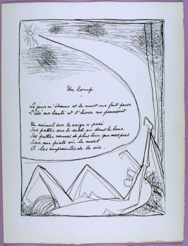 Page of the second poem Un loup in the book Poésie et verité 1942 by Paul Eluard (Paris: Roger Lacourière, 1947)
