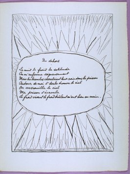 Page of the poem Du dehors in the book Poésie et verité 1942 by Paul Eluard (Paris: Roger Lacourière, 1947)