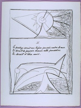 Second page of the poem La dernière nuit in the book Poésie et verité 1942 by Paul Eluard (Paris: Roger Lacourière, 1947)