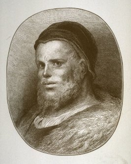 Portrait of François Rabelais, opposite title page in the book, Oeuvres de Rabelais (Paris: Garnier Frères, 1873), vol. 1