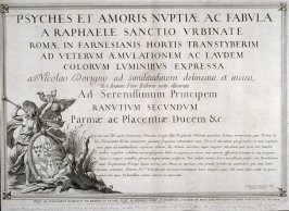 Title page from Psyches et Amoris nuptiae