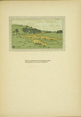 """Untitled, accompanying the poem """"Marsh Goldenrod,"""" in the book By Salt Marshes by Everett Stanley Hubbard (Publisher and location unknown, 1908)"""