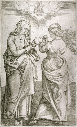 Copy after Dürer's Virgin with the Infant Christ and St. Anne]
