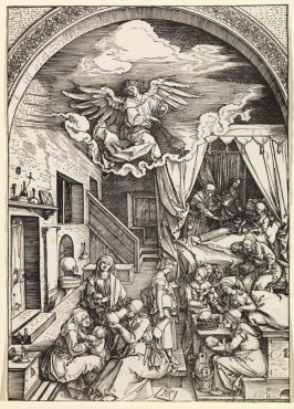 The Birth of the Virgin, fifth plate from the series The Life of the Virgin