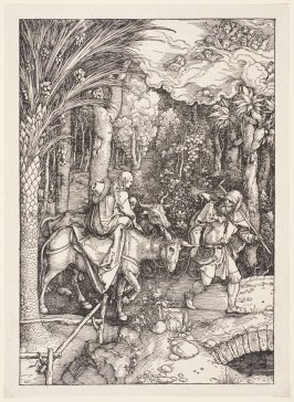 The Flight into Egypt, plate 14 from The Life of the Virgin (Nuremberg, 1511)