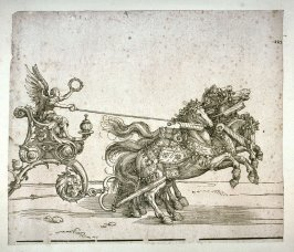 Detail of The SmallTriumphal Chariot (The Burgundian Marriage)Horses with Victory as Driver; From the Triumph of Maximilian I