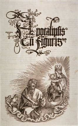 The Virgin Appearing to St. John, title page from The Apocalypse (Nuremberg: Albrecht Dürer, 1511)