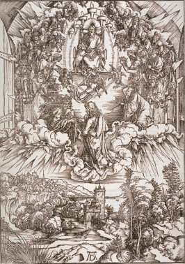St. John Before God and the Elders, fourth plate from the series The Apocalypse