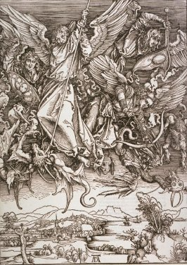 St. Michael Fighting the Dragon, plate 11 from The Apocalypse (Nuremberg: Albrecht Dürer, 1511)