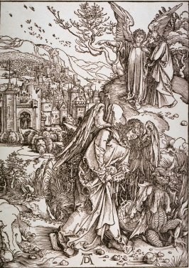 The Angel with the Key of the Bottomless Pit, sixteenth plate from the series The Apocalypse