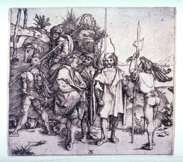 Five Soldiers and a Turk on Horseback