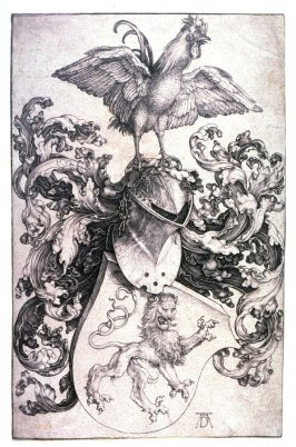 Coat-of-Arms with a Lion and a Cock