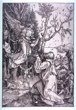 Joachim and the Angel, third plate from the series The Life of the Virgin
