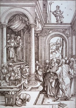 The Presentation of the Virgin Mary in the Temple, sixth plate from the series The Life of the Virgin