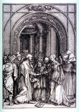 The Betrothal of the Virgin Mary, seventh plate from the series The Life of the Virgin