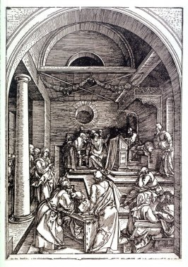 Christ Among the Doctors, sixteenth plate from the series The Life of the Virgin