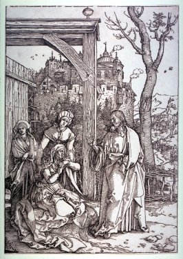 Christ Taking Leave of His Mother, seventeenth plate from the series The Life of the Virgin