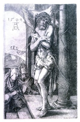 The Man of Sorrows Standing by the Column, first plate from the Engraved Passion