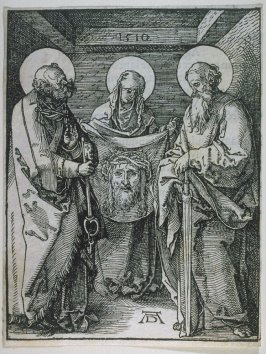 St. Veronica between St. Peter and St. Paul, twenty-third plate in the series, The Little Passion