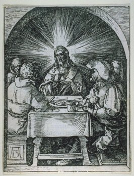 Christ in Emmaus, thirty-third plate in the series, The Little Passion