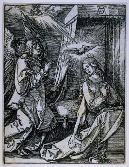 The Annunciation, fourth plate in the series, The Little Passion
