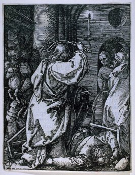Christ Driving the Moneylenders from the Temple, seventh plate in the series, The Little Passion