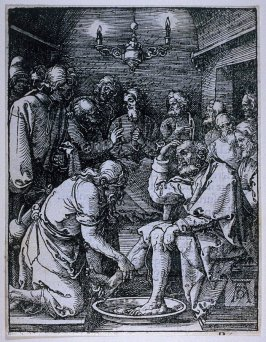 Christ Washing the Feet of the Disciples, tenth plate in the series, The Little Passion