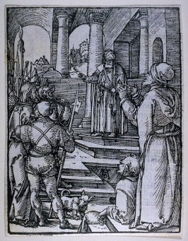 Christ before Pilate, sixteenth plate in the series, The Little Passion