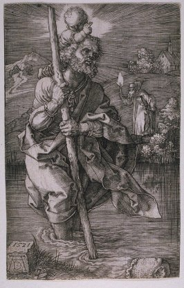 Saint Christopher Facing Right (St. Christophorus, Nach Rechts Schauend)