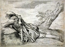 Young man reclining on a bank