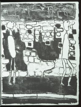 Untitled, chapt. 9, in the book Les Murs (The Wall) by Guillevic (Paris: Edition du Livre, 1950).