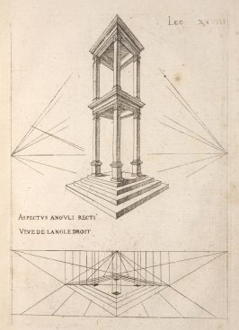 Plate 28 in the book Leçons de perspective positive (Paris: Mamert Patisson, 1576)