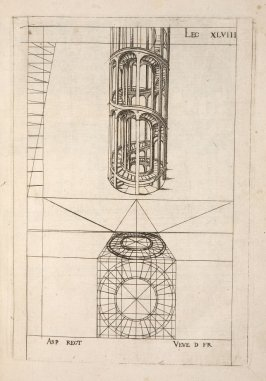 Plate 48 in the book Leçons de perspective positive (Paris: Mamert Patisson, 1576)