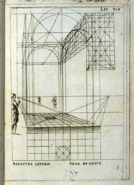Lesson XIX , pl. 19 in the book, Leçons de perspective positive (Paris: Mamert Patisson, 1576)