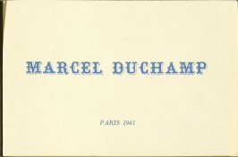 """""""Marcel Duchamp"""", pamphlet 1 of 4, Four Pamphlets with Poems by Georges Hugnet, Paris 1941 by Georges Hugnet (Paris: Georges Hugnet, 1941)."""