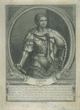 Nero, from series of five portraits of Roman emperors and empresses