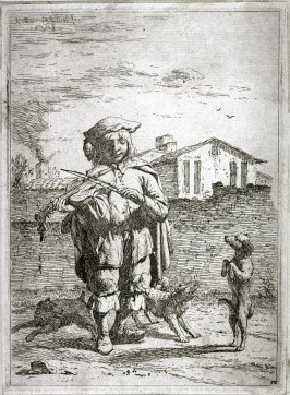 The Savoyard (Boy Playing a Violin with Dogs)