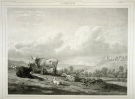 Le Paturage...(The Pasture)...thirty sixth plate in the book...[Title in Russian and French] Imperatorskaya Ermitazhnaya Galereya … Galérie Impériale de l'Ermitage (Saint Petersburg: Gohier Desfontaines, 1847)
